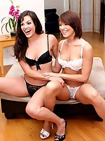 Dana and Bobbi get naked and kinky before tag teaming a fat cock only at FOXMAGAZINE.COM!
